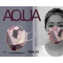 AQUA 立體印花雙鋼印水口罩十入(拼接)