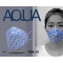 AQUA 立體印花雙鋼印水口罩十入(圓源)