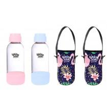 0.5L專用水瓶粉色系兩入組(含保冷袋)