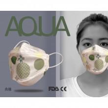 AQUA 立體印花雙鋼印水口罩十入(典雅)
