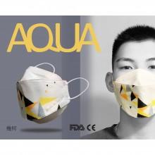 AQUA 立體印花雙鋼印水口罩十入(幾何)