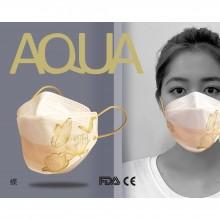 AQUA 立體印花雙鋼印水口罩十入(蝶)